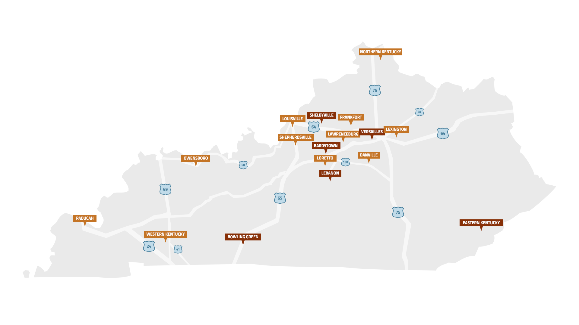 check out the many different bourbon experiences offered in each region of bourbon county